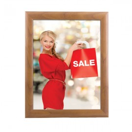 "Snap Frame 8.5'' X 11'' Poster Size 1"" Wood Look Effect Profile, Mitered Corner"