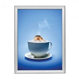 "Snap Frame 18'' X 24'' Poster Size 1.25"" Silver Color Profile, Safe Round Corner"