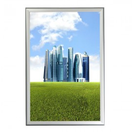 "Snap Frame 24"" X 36"" Poster Size, 1.25"" Silver Color Profile, Mitered Corner"