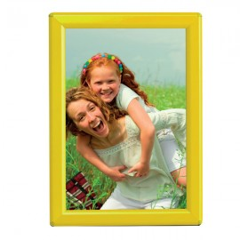 "5'' X 7'' Poster Size 0.55"" Yellow (RAL 1021) Profile, Safety Corner, With Back Support"