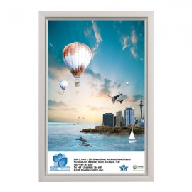 "Slide In Frame 11'' X 17''  Poster Size 0.93"" Silver Color Profile, Mitered Corner, Single Sided"