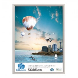 "Slide In Frame 18'' X 24''  Poster Size 0.93"" Silver Color Profile, Mitered Corner, Single Sided"