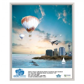 "Slide In Frame 22'' X 28''  Poster Size 0.93"" Silver Color Profile, Mitered Corner, Single Sided"