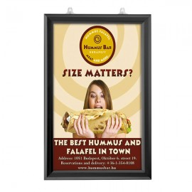 "Slide In Frame 11'' X 17''  Poster Size 1"" Black Color Profile, Mitered Corner, Double Sided"