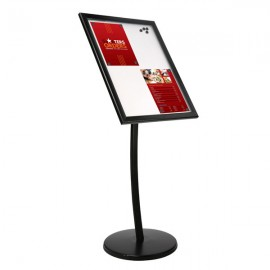 "Poster Showboard on Curved Post 18""w x 24""h Poster Size Landscape/Portrait use Black Black"