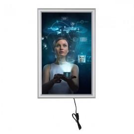 "Smart Led box 11""X17"" Poster Size 1"" Silver Aluminum Profile, Single Sided"