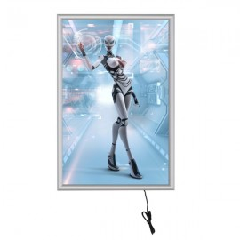 "Smart Led box 24""X36"" Poster Size 1"" Silver Aluminum Profile, Single Sided"