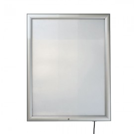 "Lockable Outdoor Smart Led box 22""w x 28""h Poster Size 1,38"" Silver Aluminum Profile, Single Sided"