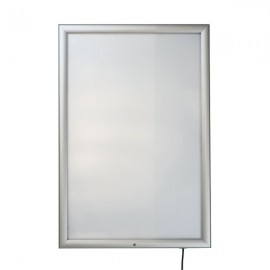 "LockableOutdor Smart Led box 24""w x 36""h Poster Size 1,38"" Silver Aluminum Profile, Single Sided"