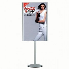 "Free Standing Leaflet Display-Curved Box 24""w x 36""h  Poster Width w/ out lighting"