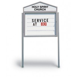 "48 x 48"" Cathedral Outdoor Readerboards"