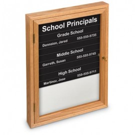 "18 x 24"" Single Door Standard Enclosed Magnetic Directory Board"