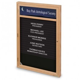 "24 x 36"" Single Door Enclosed Magnetic Directory Board w/ Header"