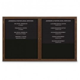 "60 x 36"" Double Door Illuminated Enclosed Magnetic Directory Board"