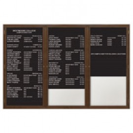 "96 x 48"" Triple Door Standard Enclosed Magnetic Directory Board"