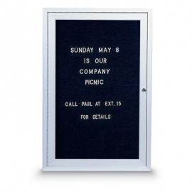"18 x 24"" Single Door Standard Indoor Enclosed Letterboard"