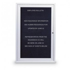 "18 x 24"" Single Door Standard Outdoor Enclosed Letterboard"