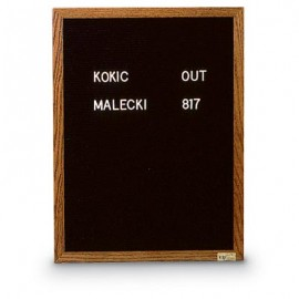 "72 x 48"" x 3/4"" Wood Framed Letterboard"