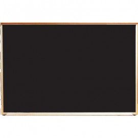 "24 x 18"" x 3/4"" Oak Framed Economy Open Face Chalkboard"