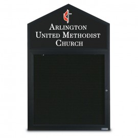 "48 x 48"" Cathedral Design Double Sided Outdoor Letterboards"