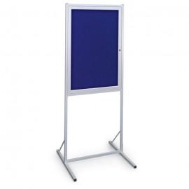 "24 x 36"" Aluminum Enclosed Double Pedestal Easy Tack Board"