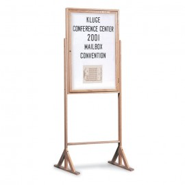 """24 x 36"""" Wood Enclosed Double Pedestal Easy Tack Board"""