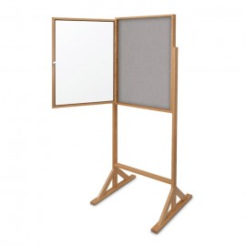 "30 x 36"" Wood Enclosed Double Pedestal Tack Board"