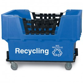 "Recycle"" w/ Logo Blue Imprinted Plastic Basket Truck"