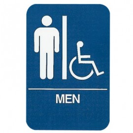 Men/Accessible ADA Compliant Sign