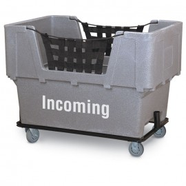 "Incoming"" Granite Imprinted Plastic Basket Truck"
