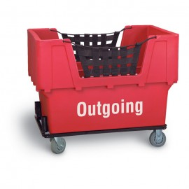 "Outgoing"" Red Imprinted Plastic Basket Truck"
