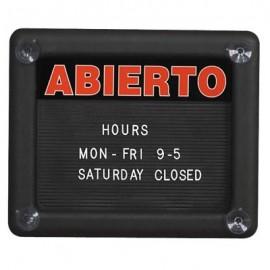"""11 x 4"""" Abierto/Cerrado Insert Sign"""