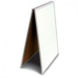 "24 x 36"" White Dry Erase Easel Economy Sandwich Board"