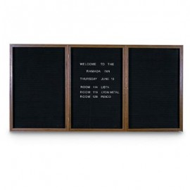 "72 x 48"" Triple Door Standard Indoor Wood Enclosed Letterboard"