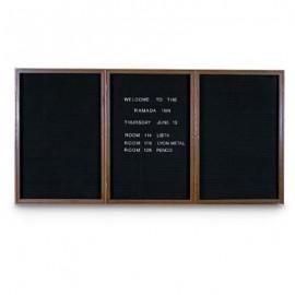 """72 x 36"""" Triple Door Standard Indoor Wood Enclosed Letterboard"""
