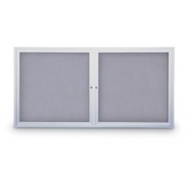 "42 x 32"" Indoor Enclosed Easy Tack Board w/ Header"