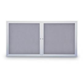 """42 x 32"""" Indoor Enclosed Easy Tack Board w/ Header"""