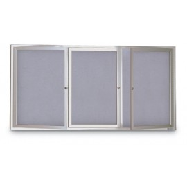 "96 x 48"" Indoor Enclosed Easy Tack Board"