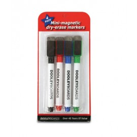 4 Dry Erase Markers with Eraser