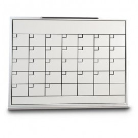 "36 x 24"" Porcelain Open Faced Calendar Board"