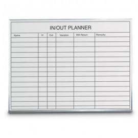 "36 x 24"" Porcelain Open Faced In/Out Planner Board"
