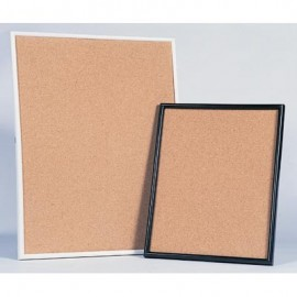"22 x 28"" Plastic Framed Natural Cork Corkboards"