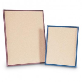 "20 x 16"" Plastic Framed Natural Cork Corkboards"