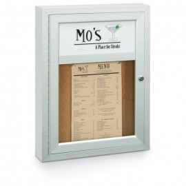 "18 x 24"" Single Door with Illuminated Header Outdoor Enclosed Corkboards"