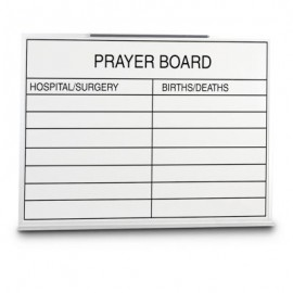 "48 x 36"" Porcelain Open Faced Prayer Board"
