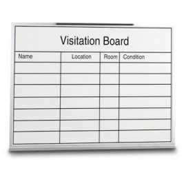 "48 x 36"" Melamine Open Faced Visitation Board"