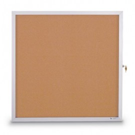 "36 x 36"" Slim Style Standard Enclosed Corkboard"