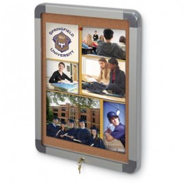 "18 x 24"" Radius and Hingeless Low Profile Corkboard"