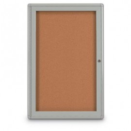 "18 x 24"" Single Door Radius Corner- Indoor Enclosed Corkboard"