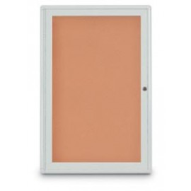 "24 x 36"" Single Door Radius Corner- Indoor Enclosed Corkboard"